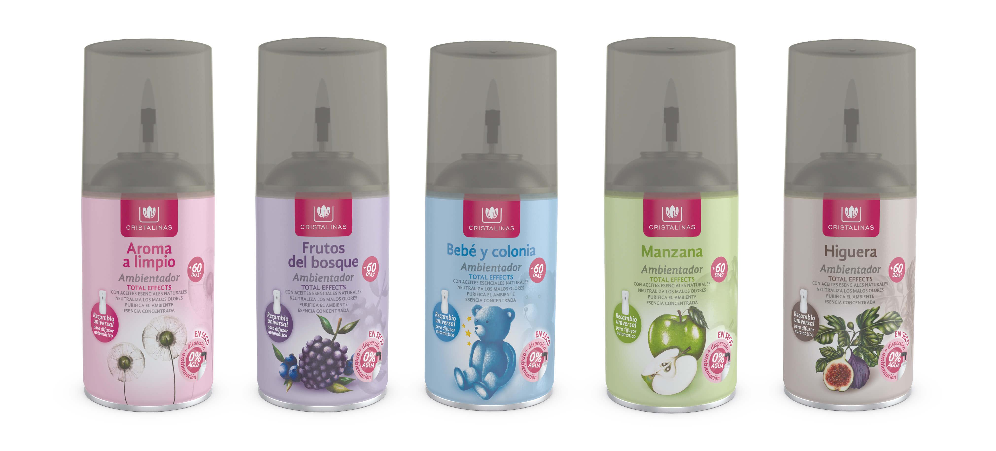 Compra tu Recarga Ambientador Automático 250 ml en tu aroma preferido en Cristalinas