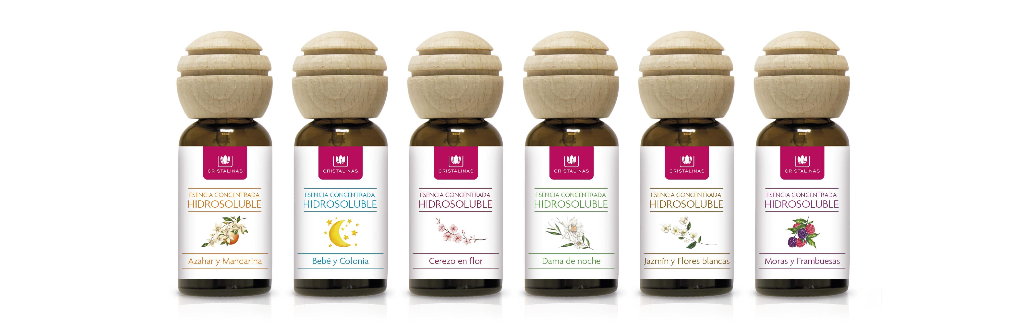 Compra tu Esencia Hidrosoluble en tu aroma preferido en Cristalinas